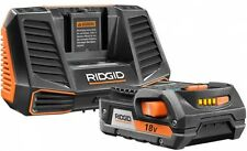 RIDGID Battery and Charger 18-V Hyper Lithium-Ion Starter Kit, Power Tools, Vac