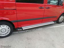 To Fit 04 - 14 Mercedes Vito Viano SWB Polished Aluminium Side Running Boards