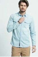 Jack & Jones Herren Langarm Hemd | PKTKED WESTERN SHIRT | Light Blue | M