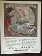1926 Advertisement 1847 Rogers Bros Silverplate Pieces of 8 with Spanish Chest