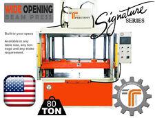 NEW!! CJRTec 80 Ton Wide Opening Beam Press