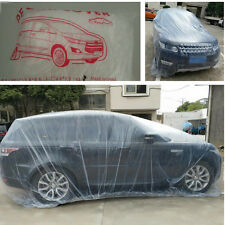 Car Auto SUV Large Size Clear Plastic Temporary Disposable Car Cover Waterproof