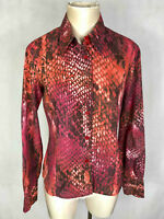 JUST CAVALLI Camicia Donna Cotone Pitonata Pitons Woman Cotton Shirt Sz.M - 44