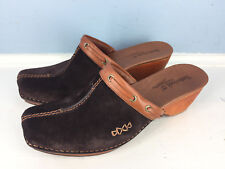 Timberland Comforia Brown Leather Mules Clogs Womens 8 Career Casual Excellent