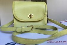 COACH VINTAGE LIME GREEN LEATHER TURN LOCK BAG PURSE 9018 - COOL!