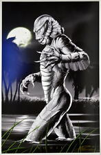 CREATURE From BLACK LAGOON Print HAND SIGNED Artist Damon Bowie w COA Monsters
