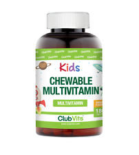 Kids Multivitamin Chewable Banana Tablets | 180 Sugar Free Tablets