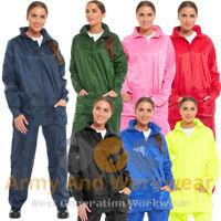 Ladies Waterproof Jacket Packaway Rain Coat Womens Hooded Kagoul Mens Unisex