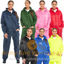 Ladies Waterproof Jacket Packaway Rain Coat Womens Hooded Kagoul Mens Unisex