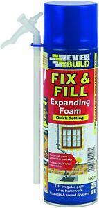 Everbuild Fix and Fill Quick Setting Expanding Foam, 500 ml