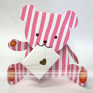 """3D Special Delivery Greeting Card - Teddy Bear """"Betty"""" - SD-071"""