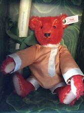 "Steiff 7"" Baby Alfonzo Red Plush Mohair Teddy Bear Limited Edition 1995"