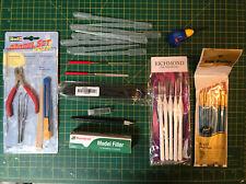 Modellers Starter Set Glue Brushes Tools Files Humbrol Filler Job Lot Airfix