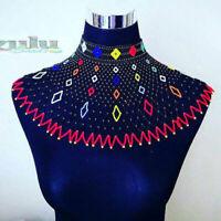 Afrikanische Zulu Typ Perlen Kragen Schulter Länge Halskette