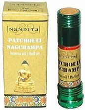 Nandita Scented Oil: Patchouli Nag Champa (8ml) NEW! Vegan Aromatherapy