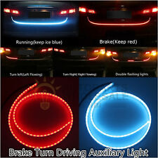 Car Dual Color Flowing Type LED Light Strip Brake Turn Running Tailgate Light