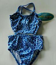 Nwt Sand N Sun Toddler 2-Piece Bathing Suit Swimwear Blue spotted print sz 18 M