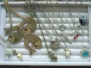 Mixed material & style fashion necklace lot