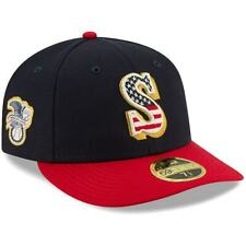 """SEATTLE MARINERS New Era 59FIFTY STAR & STRIPES Baseball Hat Fitted 7 3/8"""""""