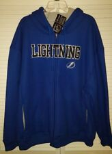 NEW AUTHENTIC NHL TAMPA BAY LIGHTNING HOODED LINED NHL WARM STITCHED JACKET 2X