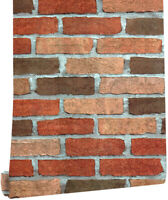 Peel and Stick Brick Wallpaper Self Adhesive Contact Paper for Bedroom Wall