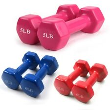 GA Pair Cover 1kg-10kg Womens Men Dumbbells Weights Gym Fitness Exercise Plastic