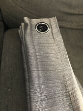 Gray Blackout Curtains Set Of 2 51x84
