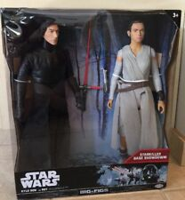 "Star Wars - Kylo Ren Vs. Rey - 2-pk 18"" Figures  Big-Figs Jakks Pac NIB"