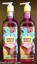 2 Bath Body Works Winter Sparkling Berries Pears Hand Soap Nourishing Olive Oil