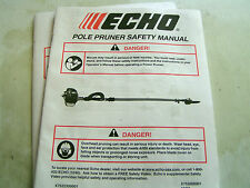 Echo Pole Pruner Safety Manual For All Models-Eng/Sp-24Pages