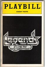 """Legends in Concert""  Playbill 1989 Academy Theatre  NYC   PHOTOS"