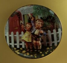 Come Back Soon Little Companions Plate M J Hummel Danbury Mint + Coa