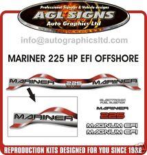 1999 - 2000 MARINER 225 hp MAGNUM EFI OFFSHORE 3.0 Litre  Decal set  RED