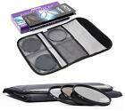 Hoya 77mm Digital Filter Kit II - UV Polarising Nd8 Filters Case