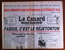 """Le Canard Enchaîné 25/07/1984; """"Fabius, c'est le rejetonton...""""/ Mauroy"""