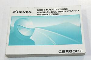 HONDA Livret Utilisation et Entretien Pour CBR600F 2002