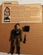 New listing Vintage G.I. Joe 1983 Loose Major Bludd Complete Near Mint/Mint W/File Card