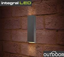 Modern Outdoor LED Double Up & Down Outdoor Wall Light Indoor Garden Patio IP54