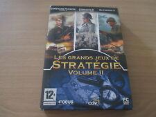 pc dvd-rom les grands jeux de strategie volume 2