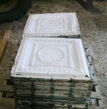 "1 - 24"" x 24"" Antique Ceiling Tin Tile Vintage Reclaimed Salvage Re Purpose Art"