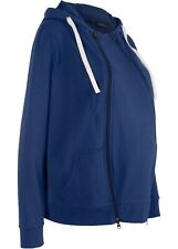 Sweat-Tragejacke / Sweat-Umstandsjacke in blau, Gr. 52/54