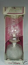 VINTAGE KAADAN HOBNAIL GLASS OIL LAMP NIB LANCASTER PA USA