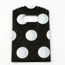 Jewelry Pouches.50pcs 9X15cm Big  Round Dot Plastic Bags Jewelry Gift Bag