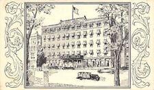Concord New Hampshire~Eagle Hotel~1946 Art Nouveau Artist Drawn Postcard