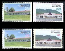 Micronesia 2005 - Government Buildings Set Of 4 Separate Stamps Mnh