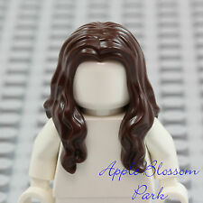 NEW Lego Girl Minifig Long Dark BROWN HAIR Pirate Female Wavy Shoulder Head Gear