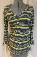 Liz Lange Maternity striped shirt medium m