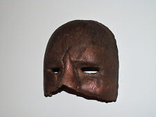 Unique Pottery Wall Mount Art Decor Bronze Color Glaze 3-Dimension Face Mask