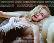 VERONICA LAKE in Taupe Gown | 8X10 Beautiful COLOR PHOTO by CHIP SPRINGER