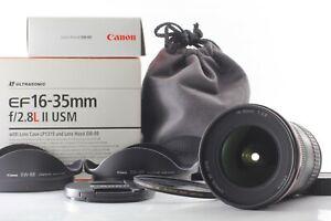 【 Almost Unused w/ 2 Hood in BOX】 Canon EF 16-35mm f/2.8 L II USM Lens Japan 513